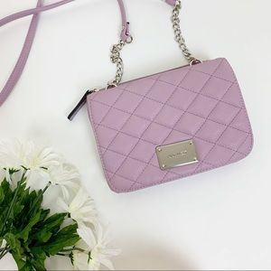 Nine West - Lilac Quilted Crossbody Bag